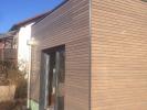 Fassade aus Rhombus Lärche vorvergraut